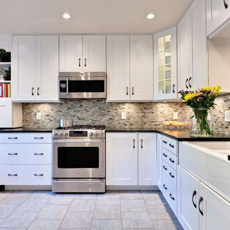 35 Perfect White Kitchen Cabinets For