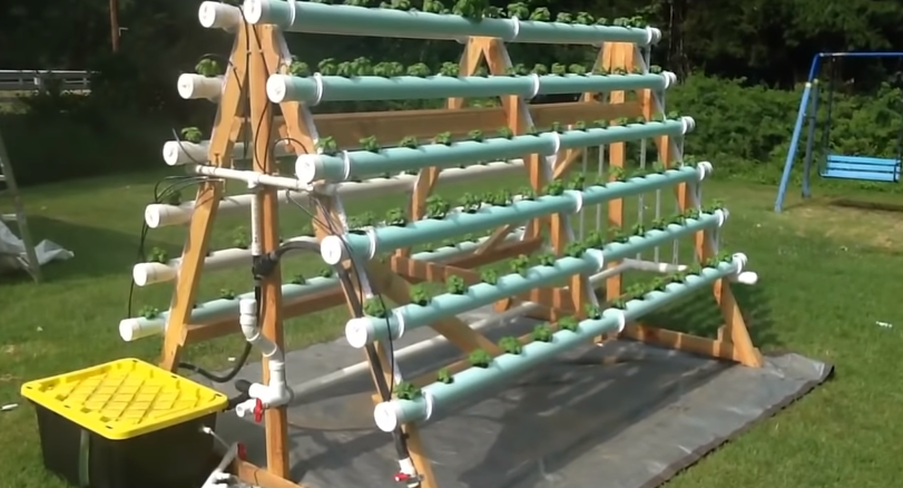 Homemade Vertical (A-Frame) Hydroponic System